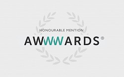 Honourable Mention Awwwards
